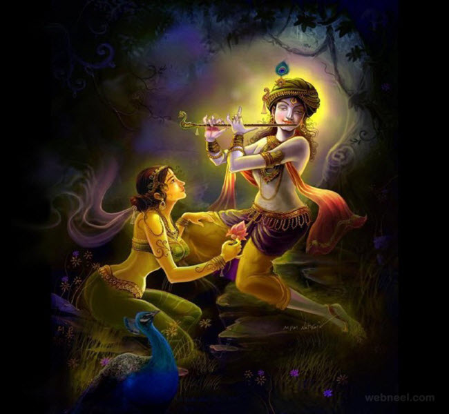 Radha and Krishna images