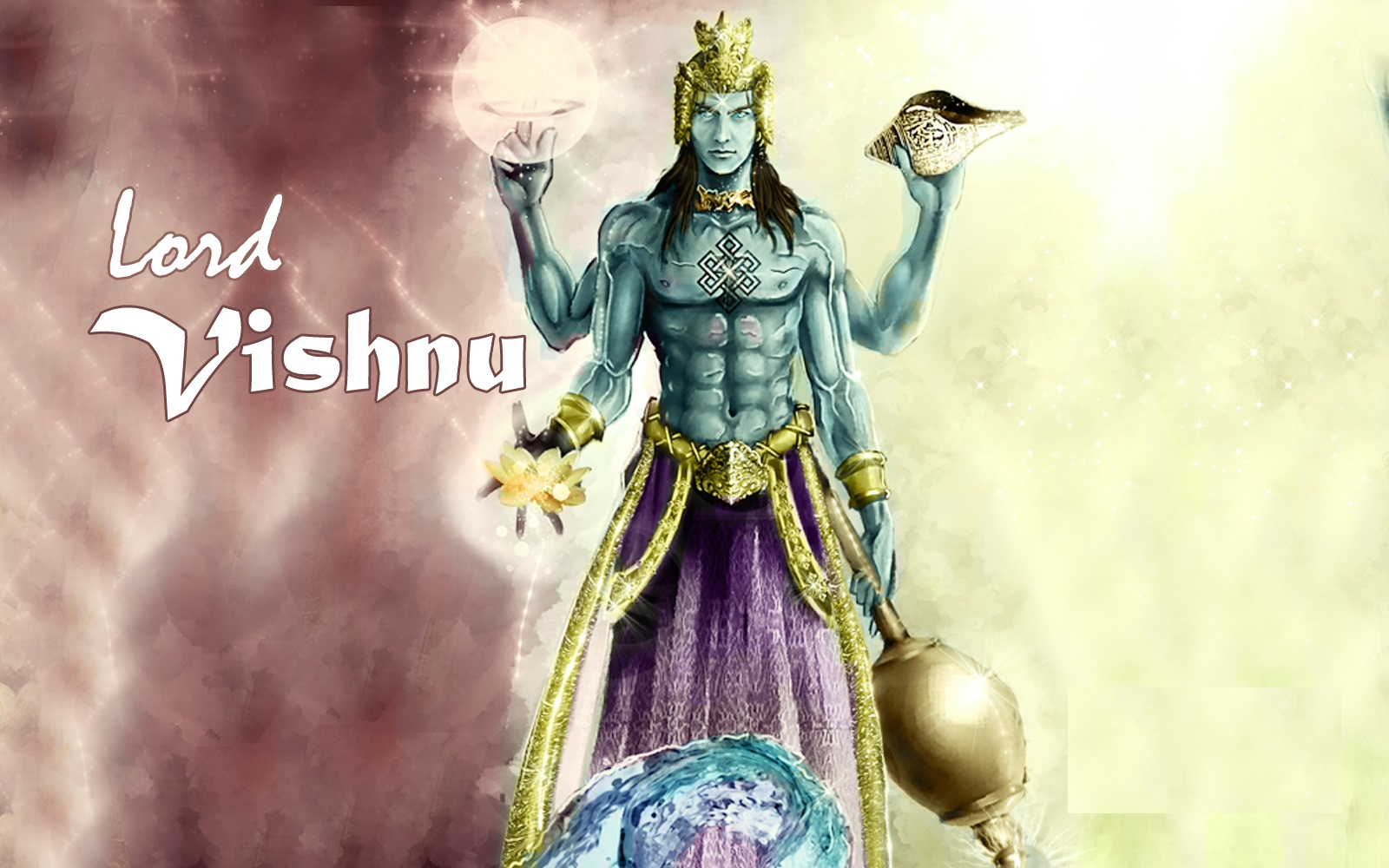 lord vishnu animated image