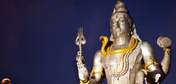 lord shiva with snake